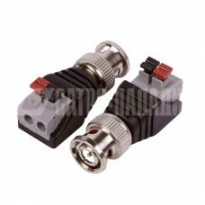 Разъем высокочастотный на кабель, штекер BNC с быстрозажимной колодкой, (1шт.) REXANT (06-0062-A) кратно 10 шт