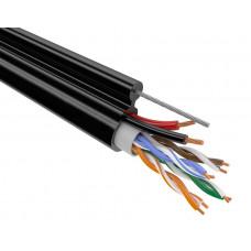 Мульти-кабель Кабель UTP 4PR 24AWG CAT5e + 2x0,75 + TR-FG8 OUTDOOR OptimLAN (mixed) 305/500 м