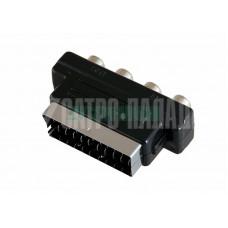 Переходник SCART - 4гн.RCA REXANT (17-1061)